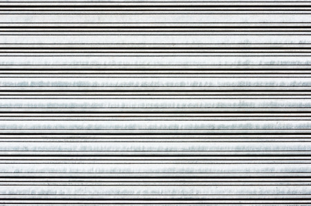 background of metallic roller shutter photo