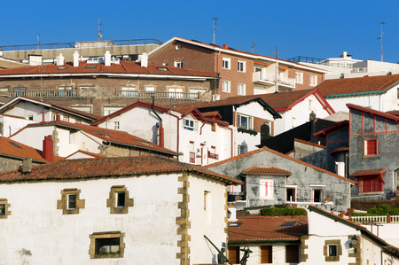 viejo: Puerto Viejo houses, in Algorta, Getxo, Basque Country, Spain