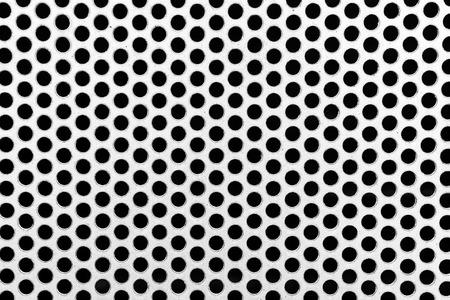 netty: Red del metal con los c�rculos perforados textura de fondo