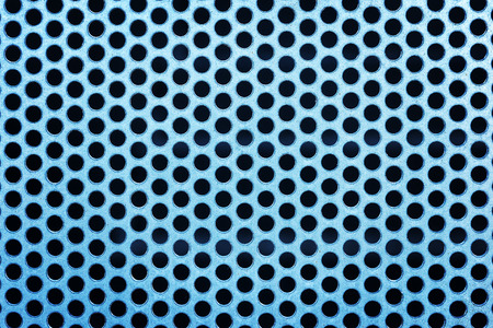 netty: Metal net with perforated circles texture background