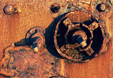 old and rusty steel machinery remains