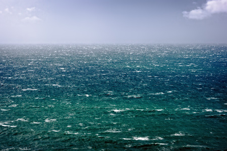 beautiful seascape with windy waves and rough sea