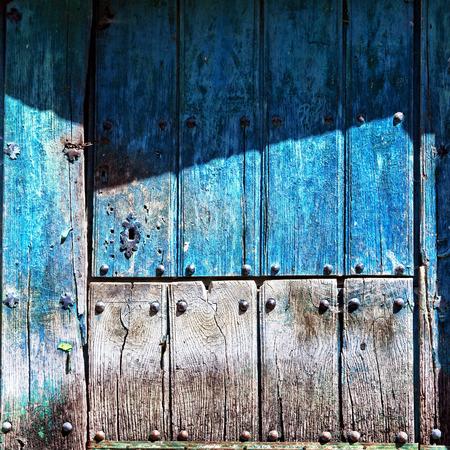 wooden old door of barn entrance photo