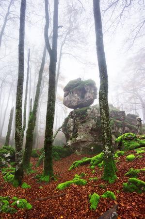 fantasque: roche s�dimentaire avec capricieuse � Urbasa. Navarre Banque d'images