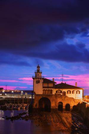 Arriluze lighthouse in Getxo at twilight Stock fotó - 97760900
