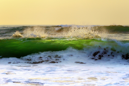 wave splashing on the shore