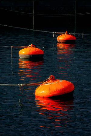 buoys on Bermeo port