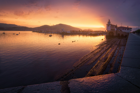 Arriluze in Getxo at the sunset Stockfoto