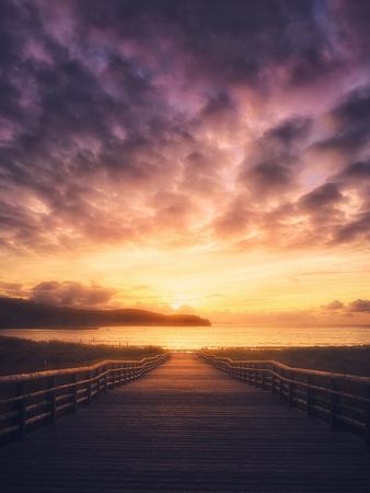 sunset in the Plentzia beach