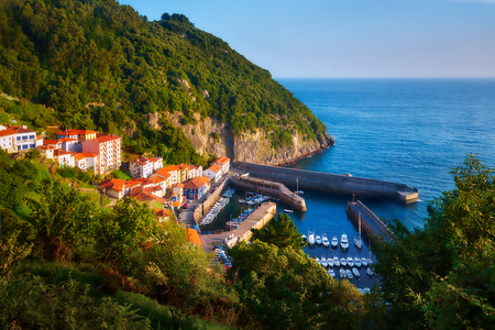 Elantxobe village and small port in Basque Country