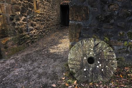 Mill stone in El Pobal ironworks in Muskiz