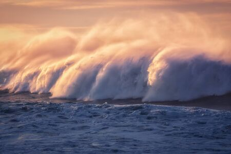 big wave splashing with a lot of spray