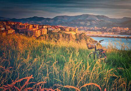 bike on nature in Getxo