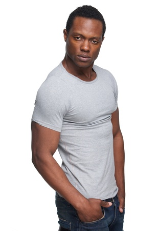 american sexy: Portrait of a masculine african american man Фото со стока