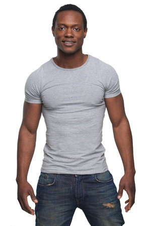 african man: Portrait of a handsome young african american man