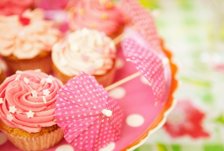 Decorated cupcakes at a birthday party Stock Photo - 18561144