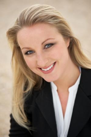 Close up portrait of a happy businesswoman  photo