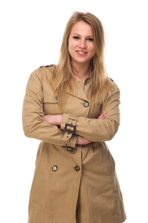 Girl In Brown Winter Coat Images & Stock Pictures. Royalty Free ...