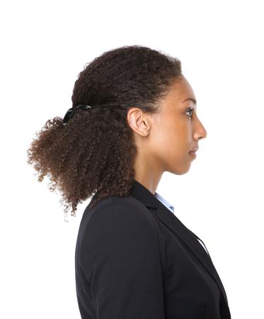 Profile portrait of a young black business woman