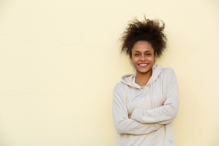 Portrait of a cute young african american woman smiling photo