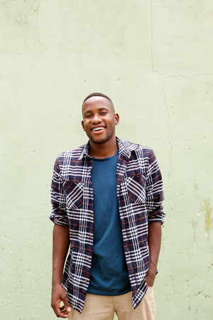 cool guy: Portrait of cool young african guy smiling