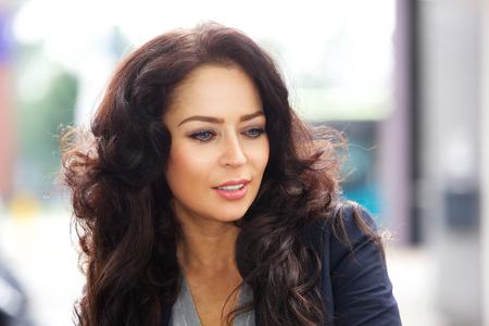 Close up portrait of beautiful business woman
