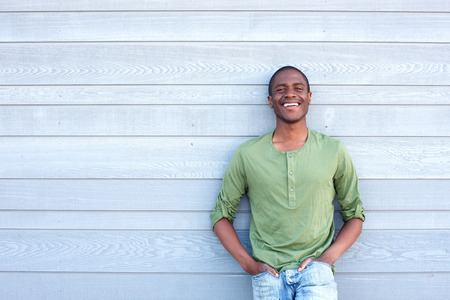 cool guy: Portrait of cool african american guy smiling Stock Photo