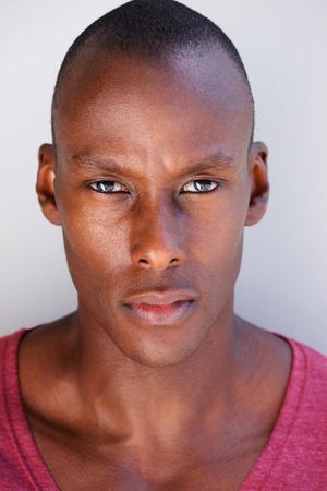 Close up head portrait of handsome black man Stock Photo - 96773460