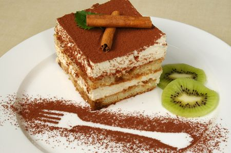 delicious and beautiful cake with  the cinnamon topping Stock Photo - 3092683