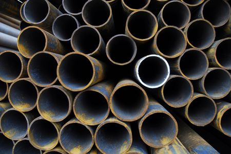 Many rusty pipes of Russian factory Stock Photo - 3092738