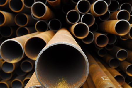 Many rusty pipes of Russian factory Stock Photo - 3092662