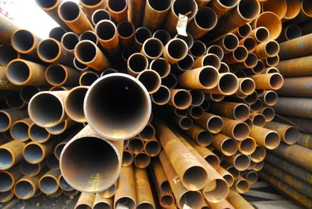 Many rusty pipes of Russian factory 8 Stock Photo - 3092730