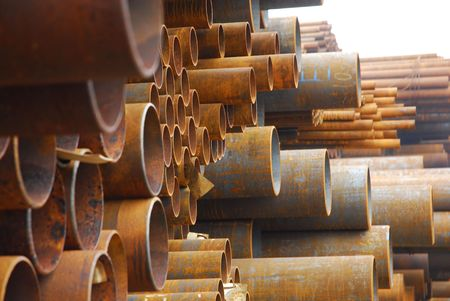Many rusty pipes of Russian factory 9 Stock Photo - 3092685