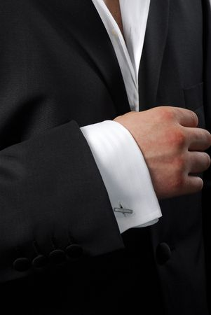 Element of modern mans suit photo