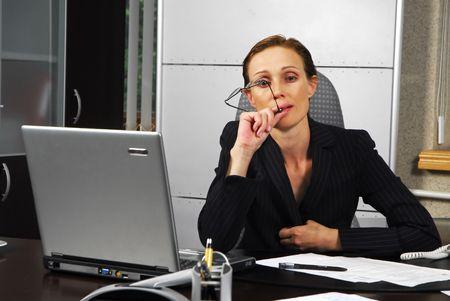 moderm: Business lady in moderm office