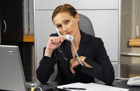 Business lady in moderm office photo