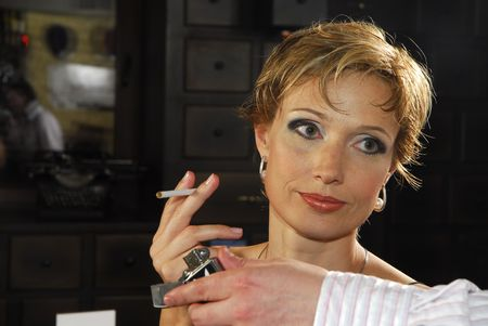 lux: 40 years old woman with cigarette 2