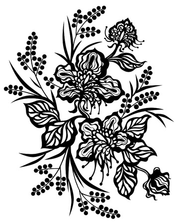 beautify: flower lace decoration Illustration