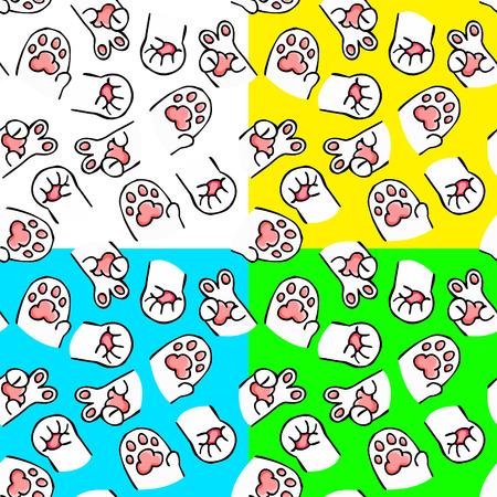 personification: seamless cute cartoon cat Illustration