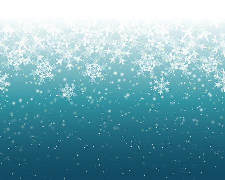 Seamless Snowflake Background Illusztráció