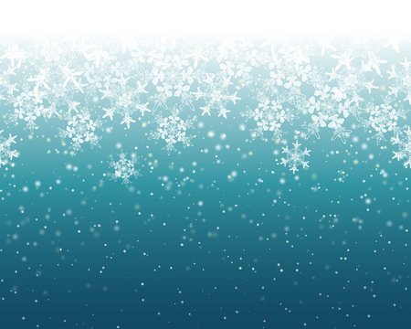 Seamless Snowflake Background Illustration