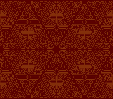 Seamless Chinese Pattern of longevity and lucky Symbols Illustration