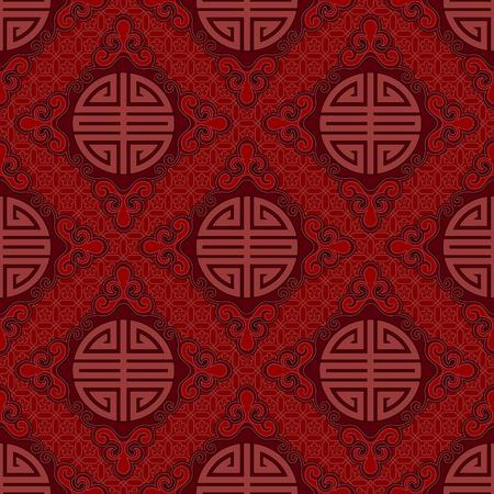 長壽和吉祥符號無縫中國模式