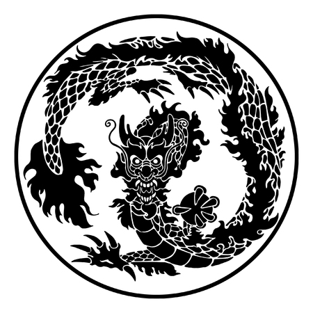 Traditional Chinese or Japanese dragon
