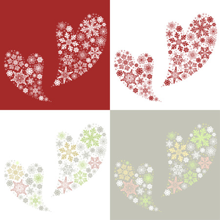 Heart shaped design for Christmas and Valentine's day 向量圖像