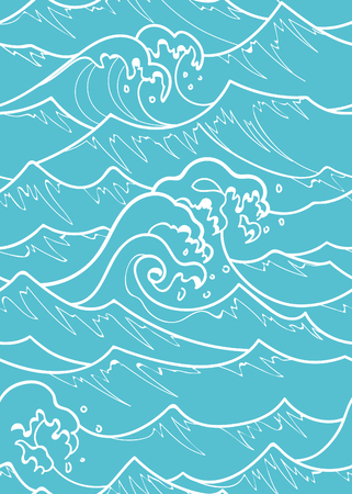 Seamless Japanese and Chinese Wave Pattern