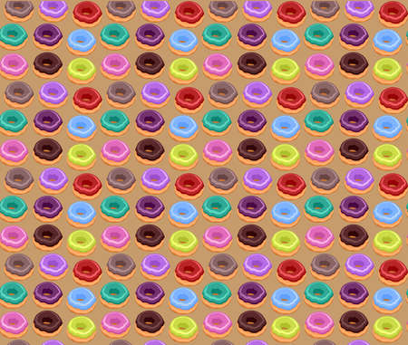 Seamless of Colorful Donuts Vector