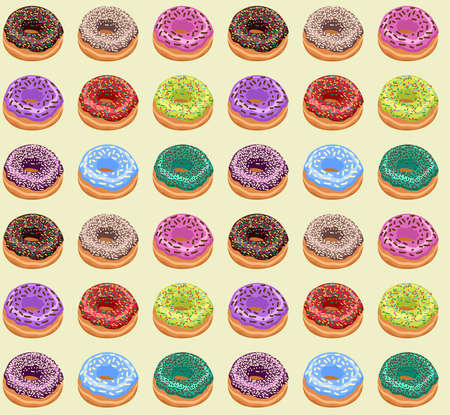 Seamless of Donuts Vector