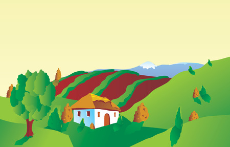 chaume: Vector paysage
