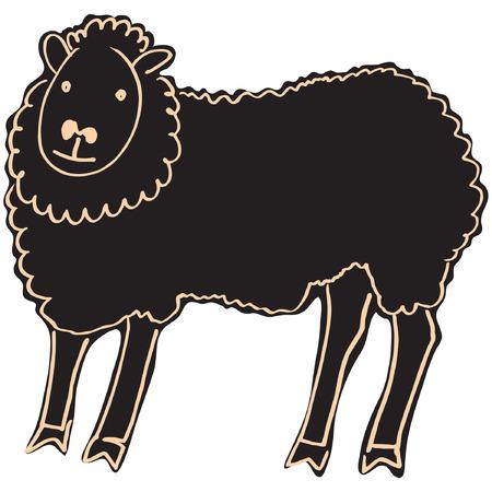 laughable: black sheep Illustration